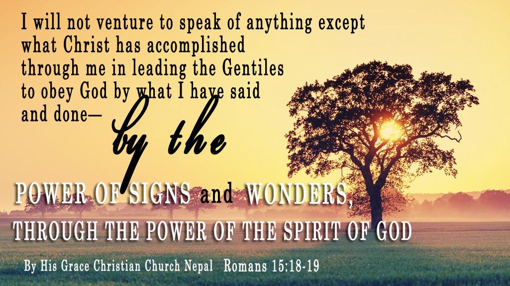 Romans 15:18-19