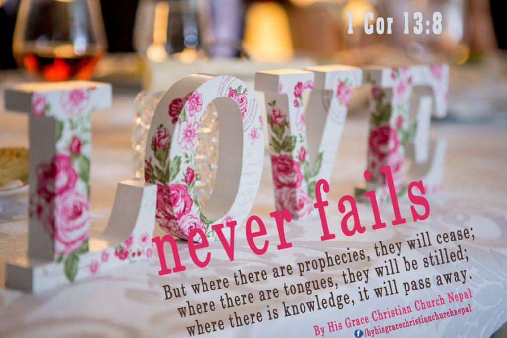1 Corianthians 13:8