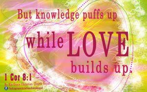 1 Corianthians 8:1