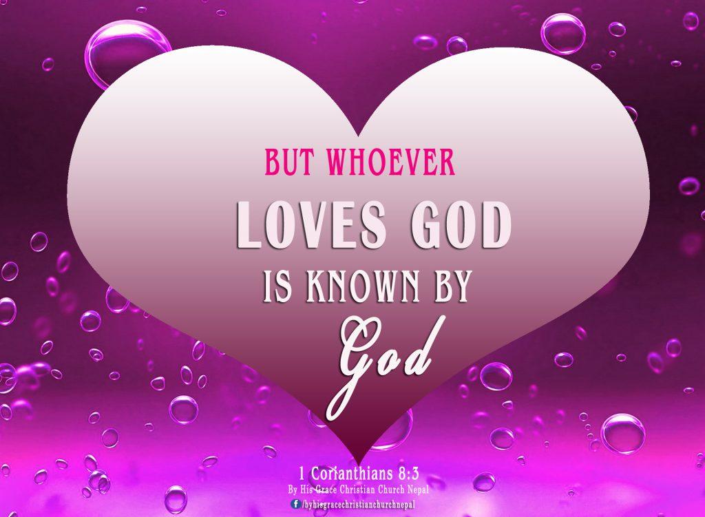 1 Corianthians 8:3